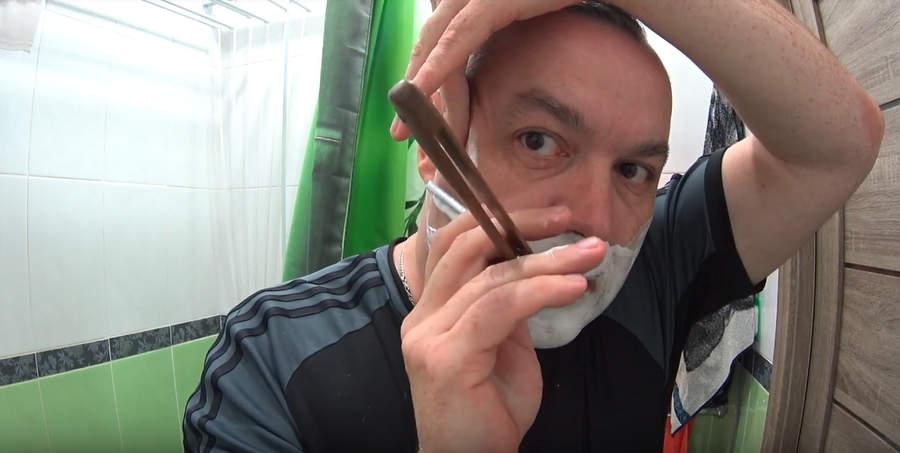 """Видеообзор: ТДС """"Кремовое"""", ютьюб-канал """"Бритва"""" (Игорь), бритьё с опасной бритвой"""